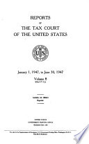 Reports of the Tax Court of the United States Book