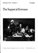 The Supper at Emmaus by Caravaggio Book PDF
