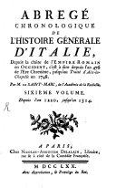 Abrégé Chronologique De L'Histoire Générale D'Italie