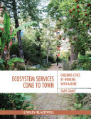 Pdf Ecosystem Services Come To Town Telecharger