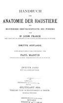 Handbuch der Anatomie der Haustiere, mit besonderer Berücksichtigung ...