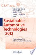 Sustainable Automotive Technologies 2012 Book PDF