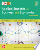 Applied Statistics in Business and Economics   Sixth Edition   SIE