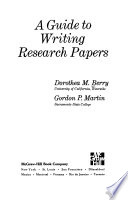 A Guide to Writing Research Papers