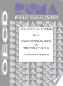 Public Management Occasional Papers Wage Determination In The Public Sector A France Italy Comparison No 21