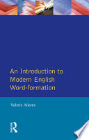 An Introduction to Modern English Word-Formation