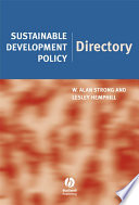 Sustainable Development Policy Directory Book PDF
