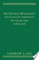 Sir George Mackenzie