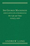Pdf Sir George Mackenzie