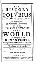 The History of Polybius the Megalopolitan