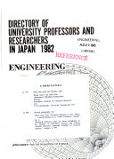 Directory of University Professors and Researchers in Japan Book