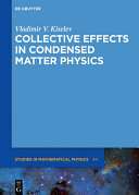 Collective Effects in Condensed Matter Physics [Pdf/ePub] eBook