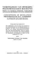 Conceptions Of Revelation Phenomenologically Considered