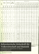 Revue suisse d'economie politique et de statistique