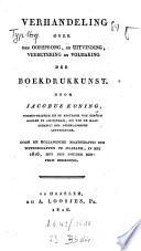 Verhandeling Over Den Oorsprong De Uitvinding Verbetering En Volmaking Der Boekdrukkunst
