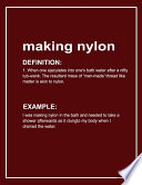 Urban Dictionary Funny 'making Nylon' Lined Notebook. Journal & Exercise Book (Red)
