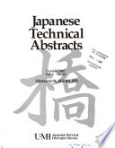 Japanese Technical Abstracts  , Volume 2, Issues 96143-101870