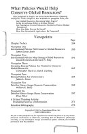 Global Resources  opposing Viewpoints