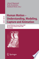 Human Motion   Understanding  Modeling  Capture and Animation Book