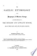 The Gaelic Etymology of the Languages of Western Europe