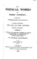 The Poetical Works of Robert Anderson  Author of  Cumberland Ballads    c
