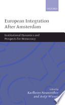 European Integration after Amsterdam