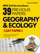 Geography & Ecology – 38 Previous Papers –CSAT Paper I – Civil Services Exam 1nd Edition