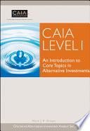 CAIA Level I Book