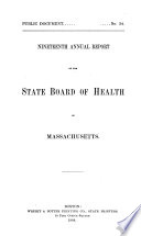 Annual Report of the State Board of Health of Massachusetts Book PDF