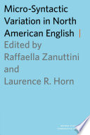 Micro Syntactic Variation In North American English