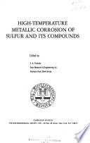 High Temperature Metallic Corrosion Of Sulfur And Its Compounds Book PDF