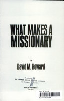 What Makes a Missionary