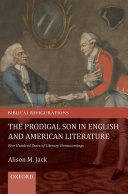 The Prodigal Son in English and American Literature Pdf/ePub eBook