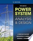 Power System Analysis Design Si Version Book PDF
