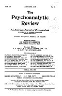 The Psychoanalytic Review