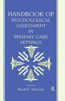 Handbook of Psychological Assessment in Primary Care Settings Book PDF