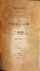 Bijdragen tot de oude letteren der Nederlanden