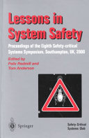 Lessons In System Safety Book PDF