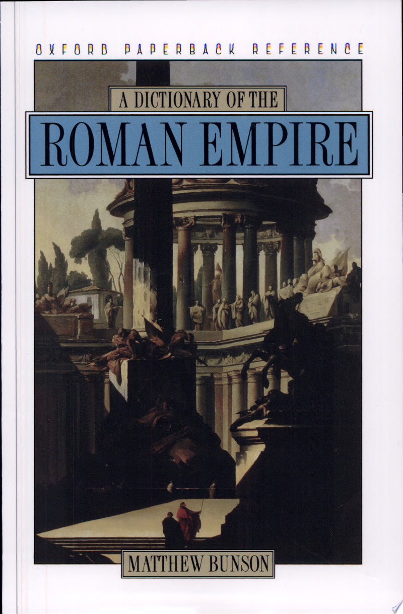 A Dictionary of the Roman Empire banner backdrop