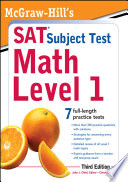 McGraw Hill s SAT Subject Test Math Level 1  3rd Edition