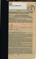 Subcommittee Hearings on H.R. 2311, H.R. 2315, H.R. 4554, H.R. 2312, H.R. 2314, H.R. 2317, H.R. 2313