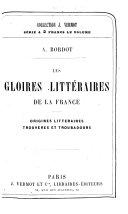 Littérature française. Origines