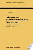 Lebenswelten in der Bundesrepublik Deutschland