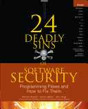 24 Deadly Sins of Software Security: Programming Flaws and How to Fix Them Pdf/ePub eBook