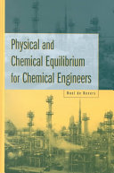 Physical and Chemical Equilibrium for Chemical Engineers Book
