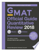 GMAT Official Guide 2018 Quantitative Review  Book   Online