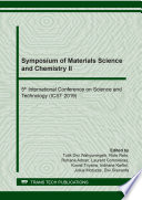 Symposium Of Materials Science And Chemistry Ii Book PDF