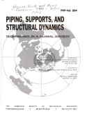 Piping  Supports  and Structural Dynamics