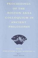 Proceedings of the Boston Area Colloquium in Ancient Philosophy  Volume XV  1999