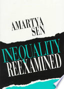 Inequality Reexamined Book